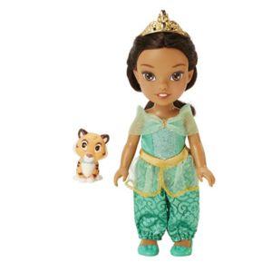 taldec disney princesse poup e princesse disney 15 cm petite jasmine et rajah pas cher. Black Bedroom Furniture Sets. Home Design Ideas