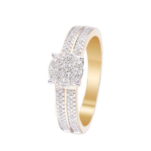 bague diamant or jaune pas cher