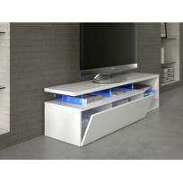 Meuble TV LED Blue Light - 150 x 41 x 43 cm - Blanc