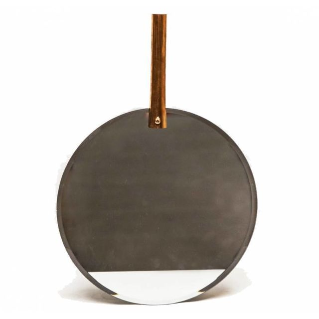 l h ritier du temps miroir mural glace tendance de forme ronde en fer patin avec cylindre de. Black Bedroom Furniture Sets. Home Design Ideas