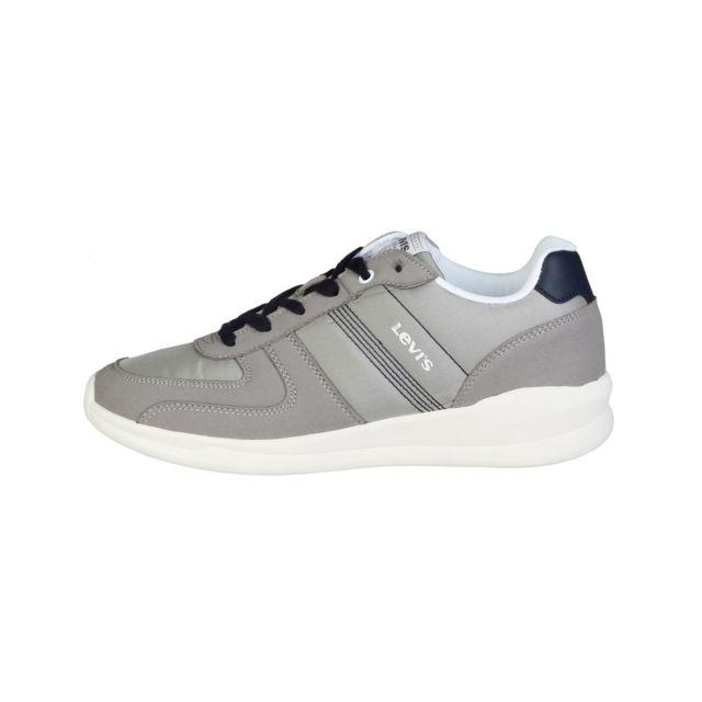 Buzzao - Chaussures de tennis à lacets semelles épaisses gris Homme - Levis fe9bcc5af496