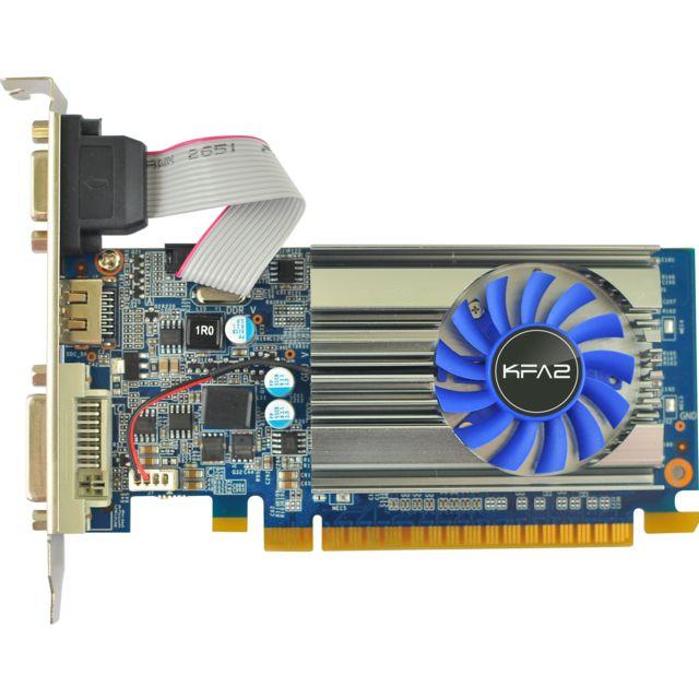 KFA2 GeForce GT 710 2 Go Bon marché et très compétitive, cette KFA2 GeForce GT 710 allie performance et équilibre pour le gaming par exemple. Epaulée par les dernières innovations technologiques signées NVI