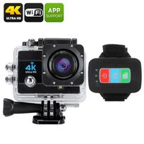 Shopinnov - Camera sports d'action 4K Wifi 170° 16MP Telecommande Zoom 4x Noire