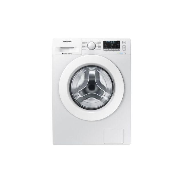 Samsung Ww70j5455mw - Lave Linge Frontal 7kg - 1400 Tours / Min - A+++ - Moteur Induction - Eco Bubble - Blanc
