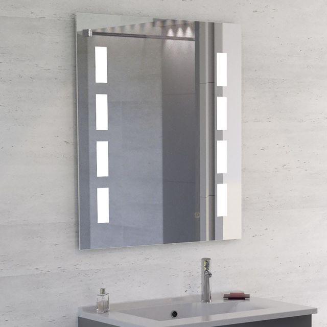Creazur Miroir Led anti-buée Mosaic - 70x80 cm - avec interrupteur sensitif