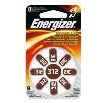 Energizer - Ez Turn & Lock 312 - Distributeur de 8 Piles auditives