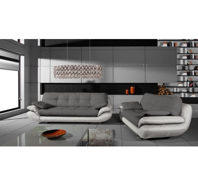 CHLOE DESIGN Ensemble de canapés 3+2 Regal - gris et blanc
