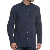 Mustang - Chemise Bleue Avec Rayures Homme