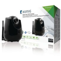 König - Caméra de surveillance Ip Pan-Tilt Intérieur Vga Noir