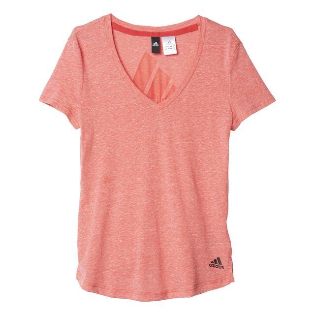 t shirt adidas rose femme