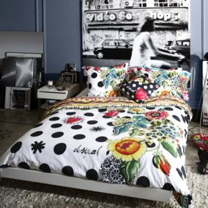 desigual housse de couette taie polka dots pas cher achat vente housses de couette. Black Bedroom Furniture Sets. Home Design Ideas