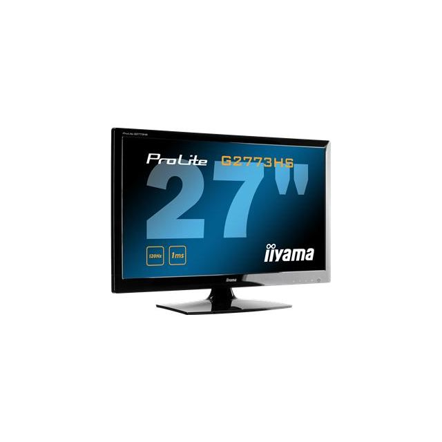 Iiyama - ProLite G2773HS-1 - Écran Led - 27'' - 1920 x 1080 FullHD - Tn - 300 cd m2 - 1000:1 - 5000000:1 dynamique 1 ms - Hdmi, Dvi-d, Vga - haut-parleurs - noir