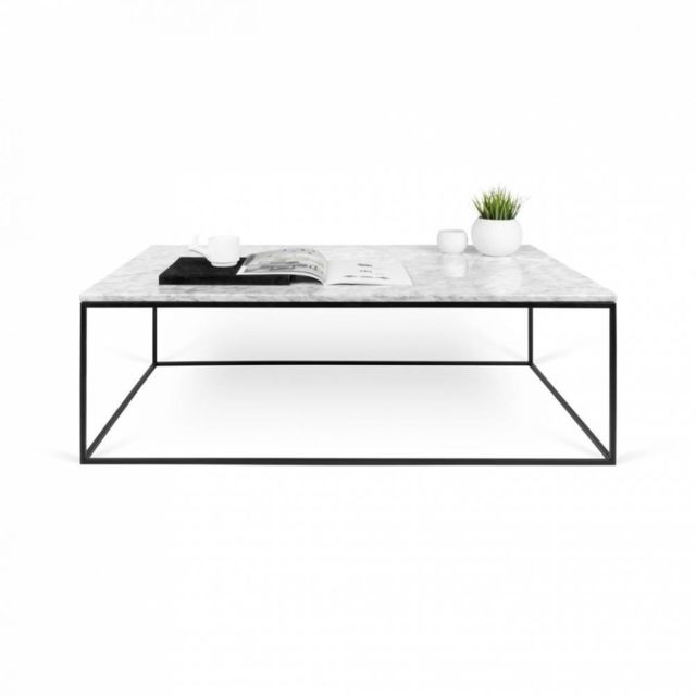 Table carrée 50 en basse marbre plateau Gleam structure noire erQoWdBECx