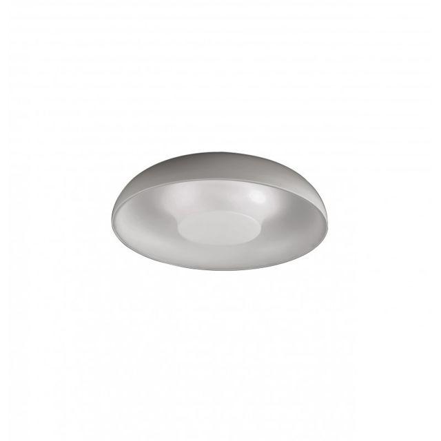 Leds C4 Plafonnier Tandem, acier et Ppma, blanc mat, 45 cm