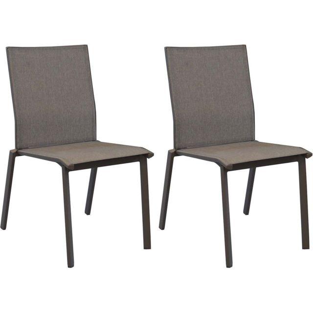 Chaises en aluminium Palma Lot de 2