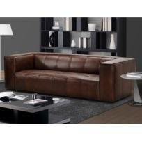 canape cuir buffle pleine fleur achat canape cuir buffle pleine fleur pas cher rue du commerce. Black Bedroom Furniture Sets. Home Design Ideas