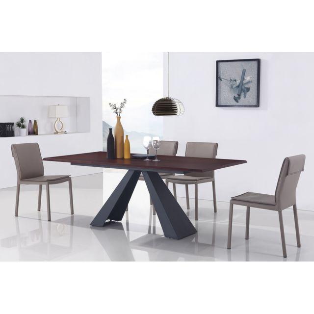 Table A Manger Design Pas Cher.Table A Manger Design En Bois Amalfi