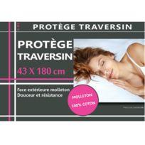 Stoff - Housse de protection de Traversin en coton molleton 43 x 180 cm