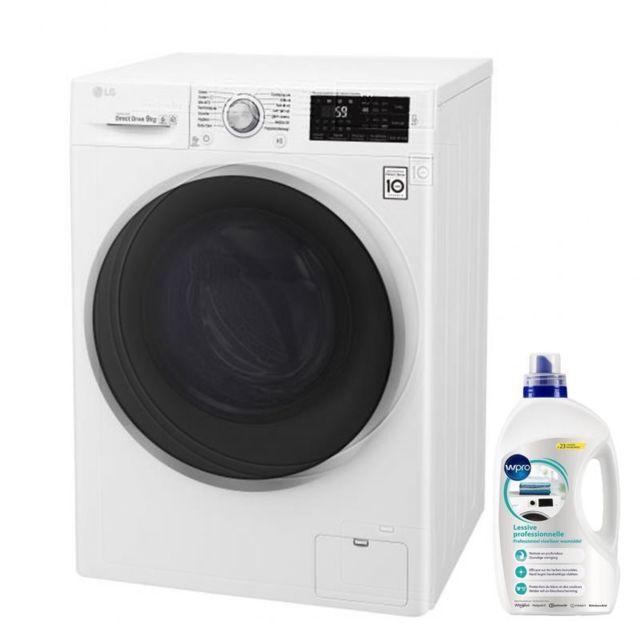 LG Lave-linge Frontal 9KG A+++ 1400rs/min Tambour 59L 13 programmes Machine à laver à hublot