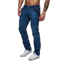 Jeansnet - Jeans fashion à bretelles Jeans 7051 bleu