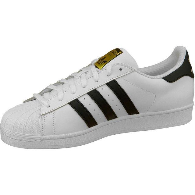 Adidas - Superstar C77124 Homme Baskets Blanc