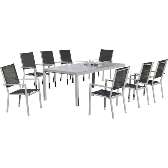hevea salon de jardin 8 personnes ibiza pas cher achat vente ensembles tables et chaises. Black Bedroom Furniture Sets. Home Design Ideas