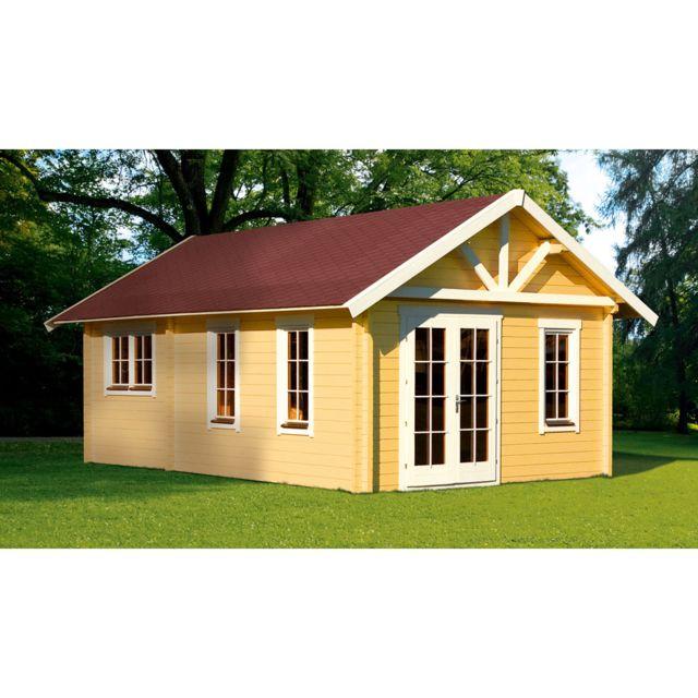 HABITAT ET JARDIN Abri jardin bois Toronto 4 - 27,72 m² - 4.20 x 6.60 x 3.62 m - 70 mm