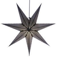 Xmas Living Glass - Huss Star - Etoile lumineuse Noir Ø60cm - Guirlande et objet lumineux designé par