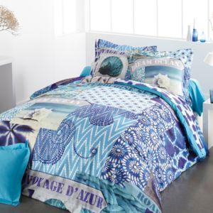 tradition des vosges parure housse de couette azur pas cher achat vente parures de lits. Black Bedroom Furniture Sets. Home Design Ideas