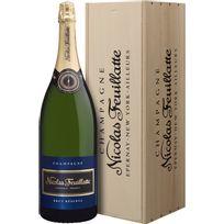 Champagne Nicolas Feuillatte - Brut Reserve Jeroboam caisse bois