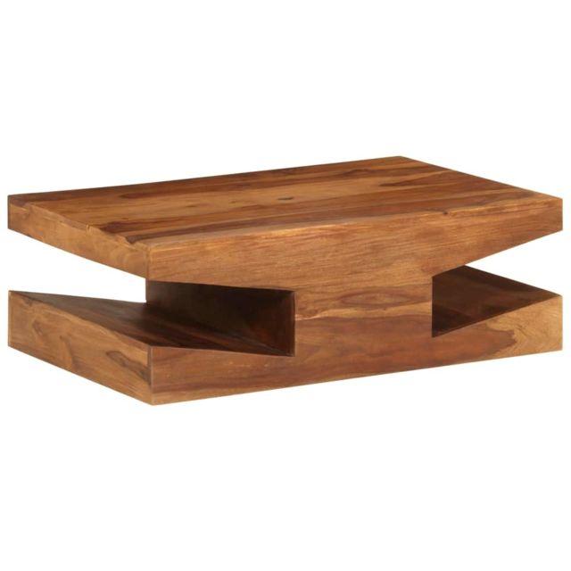 Vidaxl Massif de Sesham Table Basse Meuble Sejour Table de Salon Table Canapé