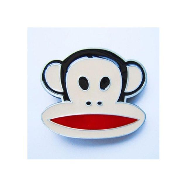 Universel - Boucle de ceinture tete de singe monkey homme femme ... b4ad8bc6203