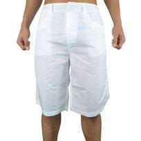 Redskins - Short De Bain Long - Homme - Red 08 - Blanc