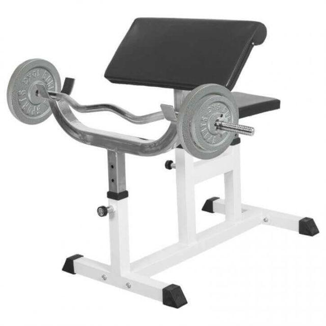 Gorilla Sports Banc De Musculation Curl Pour Entrainer Les Biceps