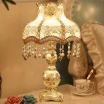 Blanche Et Lampe Style Avec Chaude Européen Chambre Chevet De Rétro HDEI9YW2