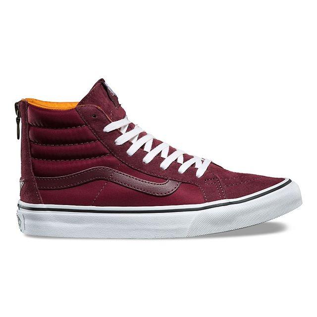 vans chaussure rouge bordeaux femme