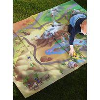 HOUSE OF KIDS - Tapis NAPPE DE JEU CIRCUIT SAVANE Tapis Enfants par Multicolore 100 x 140 cm