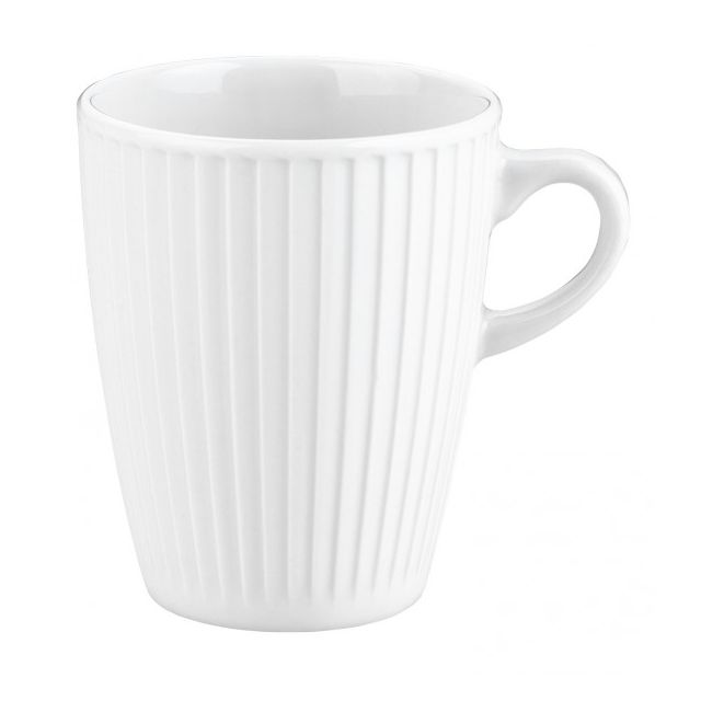 Pillivuyt Lot de 6 mugs plissé