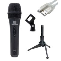 Pronomic - Usb-20 microphone Usb Set incl. trépied de table noir