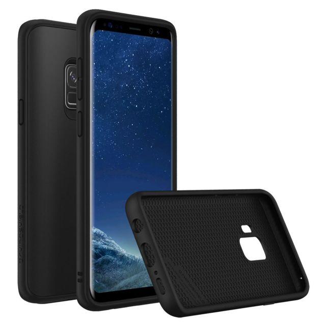 Coque Samsung Galaxy S9 plus coque silicone antichoc armor avec noir la fente de carte magnetic arrière cas
