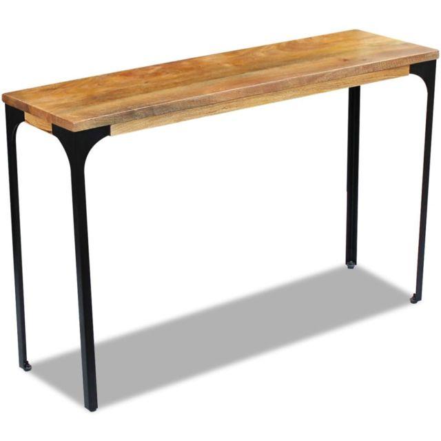 Icaverne - Buffets et bahuts selection Table console Bois de manguier 120 x 35 x 76 cm