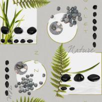 Bonareva - Toile cirée au mètre - Largeur table 140 cm - Jardin Zen