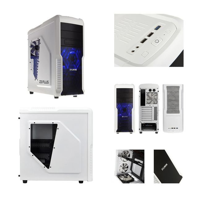 """Pack complet Pc Gamer Advanced Intel i5-7500 4x 3.40Ghz max 3.8Ghz Geforce Gtx1050Ti 4Go, 8Go Ram Ddr4 2133Mhz, 250Go Ssd, 2To Hdd, Usb 3.0, Wifi, CardReader, Hdmi2.0. Unité centrale avec moniteur Tft-led 23.6"""", clavier & souris small"""