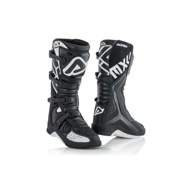 X Moto Black 46 White Bottes team Cross QBthdxsrC