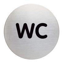 """Durable - Plaque ronde Ø 8,3 cm pictogramme """"WC"""
