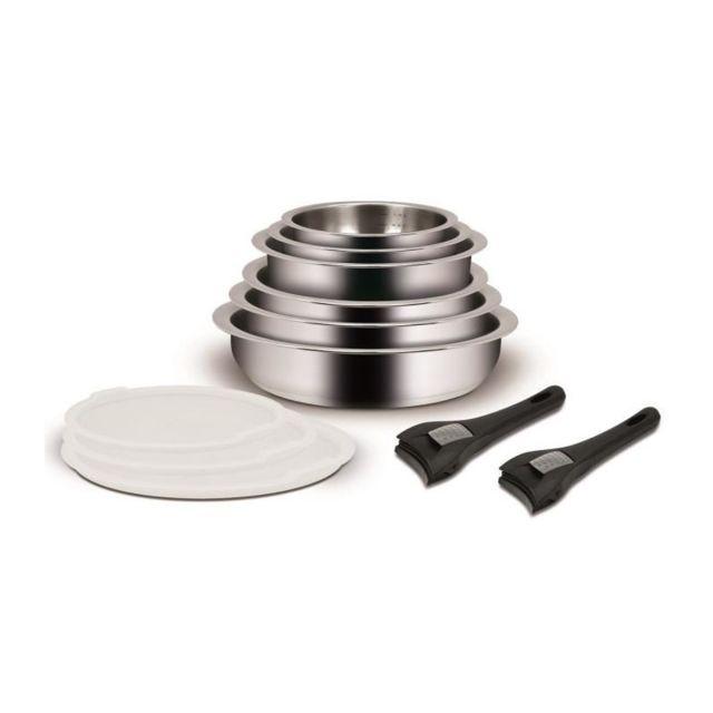 Marque generique batterie de cuisine 11 pieces poign e - Batterie de cuisine induction poignee amovible ...