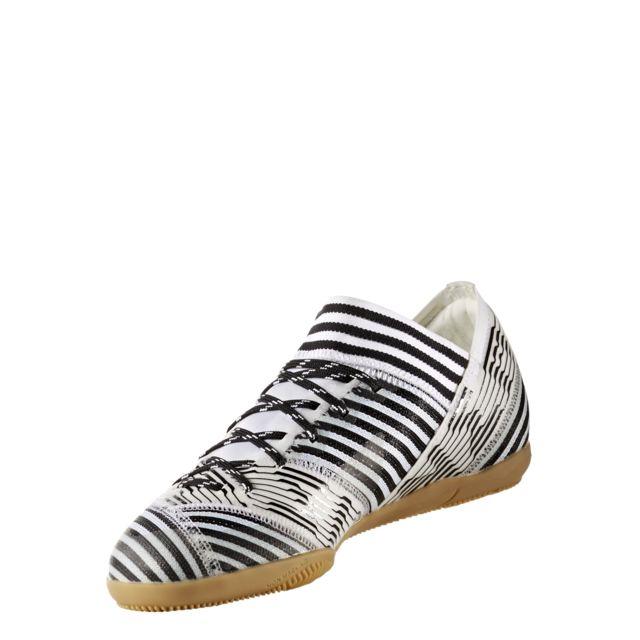 Adidas - Chaussures junior Nemeziz Tango 17.3 Indoor blanc/jaune fluo/noir