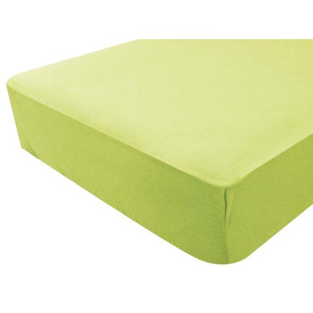 toison d 39 or drap housse jersey b b en coton 70x140 cm jersylor anis vert 70cm x 140cm pas. Black Bedroom Furniture Sets. Home Design Ideas