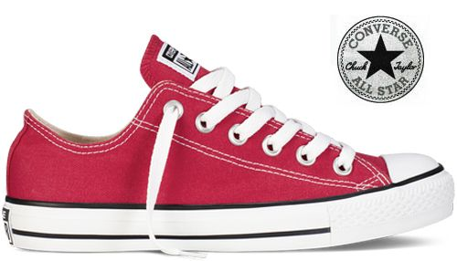 Converse - Chaussures All Star Chuck Taylor Basse Rouge ...