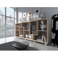 Comfort - Home Innovation - Étagère bibliothèque design Salon-Salle à manger, Chêne clair, Dimensions : 68,5 x 161 x 25 cm de profondeur